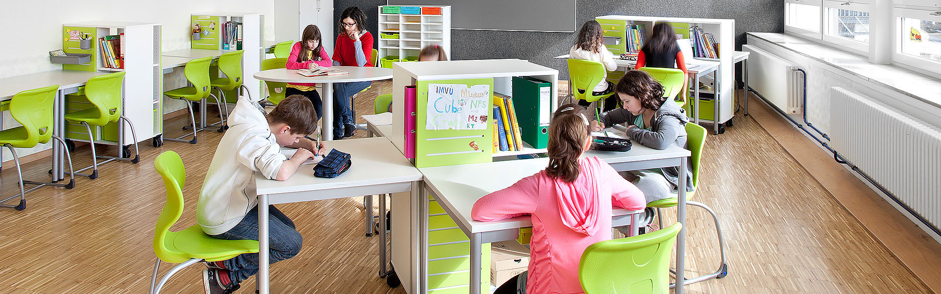 Image: Learning room with flexible furniture