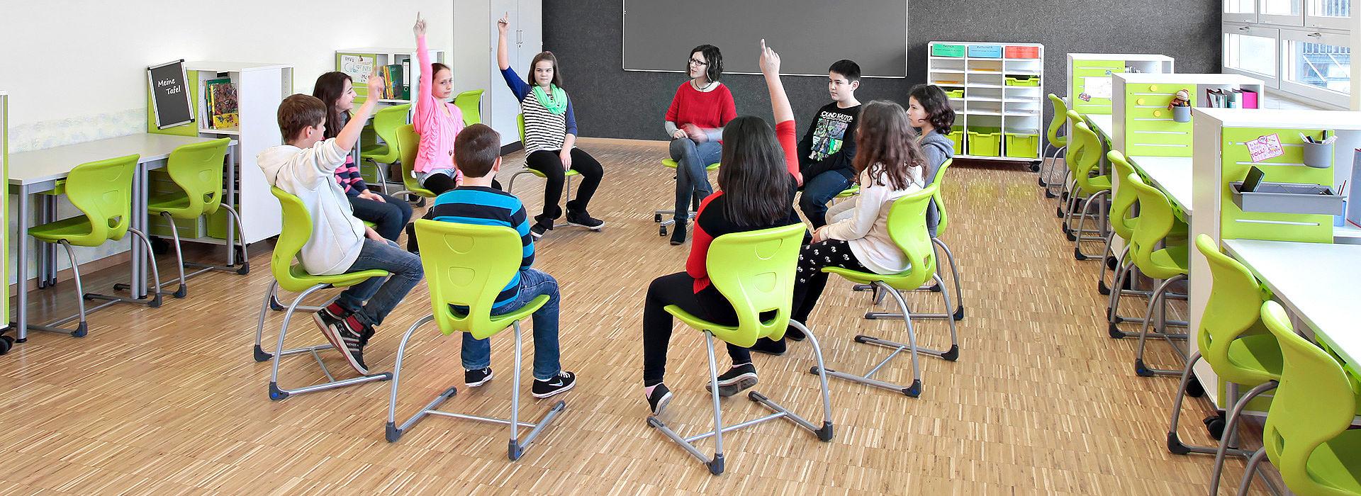 salle de classe flexible - ronde