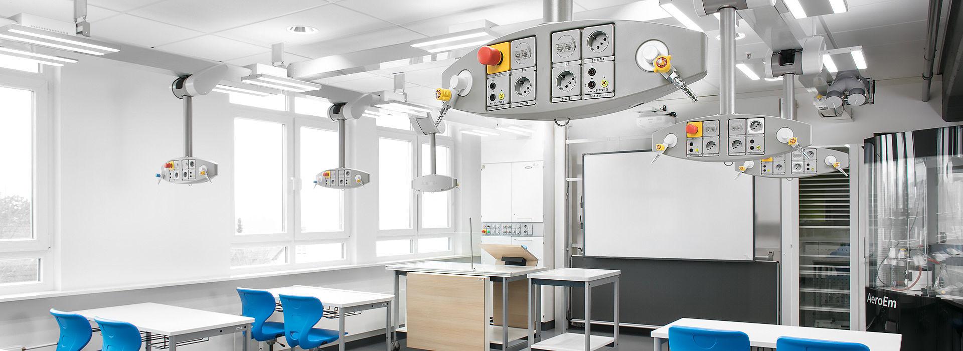 Image:  Deckenversorgungssystem Medienlift