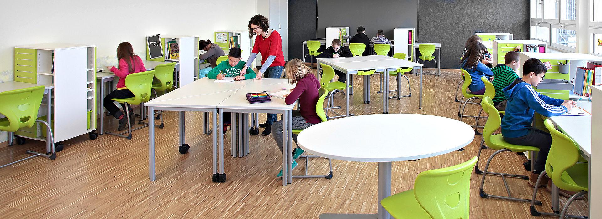 salle de classe flexible eleves individuelles