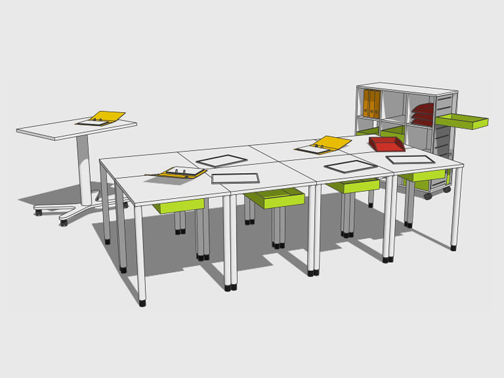 Image: Meeting - grouped desks