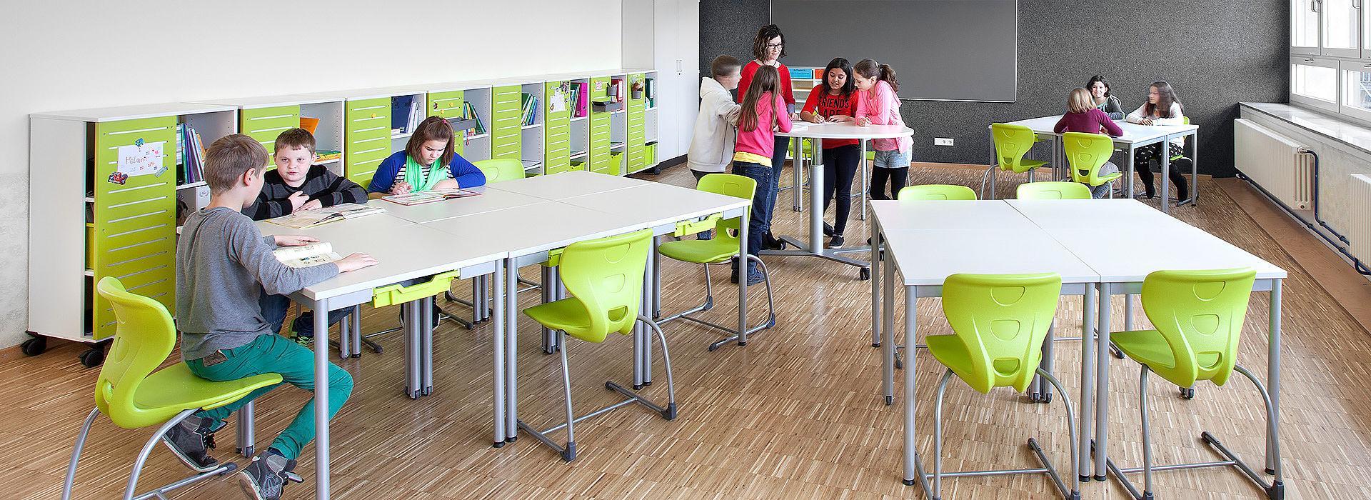 salle de classe flexible - interaction