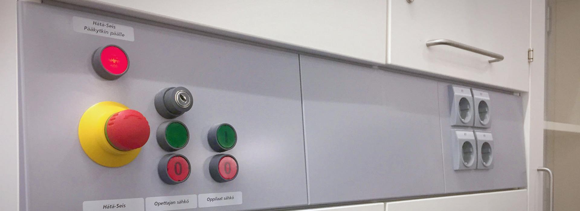 Images science classroom safety construction KULOSAAREN YHTEISKOULU, HELSINKI